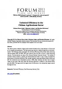 Technical Efficiency in the Chilean Agribusiness Sector - AgEcon Search