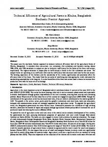 Technical Efficiency of Agricultural Farms in Khulna ... - CiteSeerX