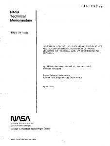 Technical Memorandum - NASA Technical Reports Server (NTRS)