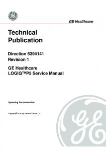 Technical Publication Direction 5394141 Revision 1 GE Healthcare ...