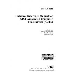 Technical Reference Manual for NIST Automated Computer Time ...
