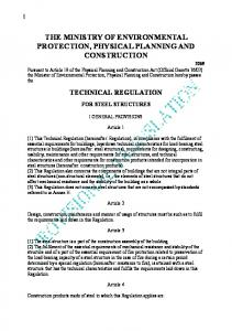 Technical regulation for steel structures
