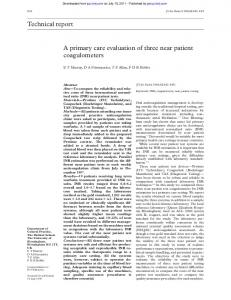 Technical report A primary care evaluation of three