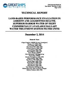 TECHNICAL REPORT LAND-BASED