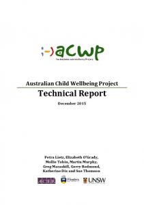 Technical Report - The Australian Child Wellbeing Project
