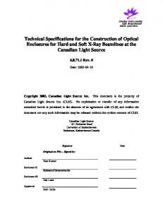 Technical Specifications for the Construction of ...