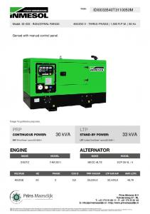 TECHNICAL SPECIFICATIONS IDT30S