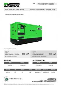 TECHNICAL SPECIFICATIONS IVV300