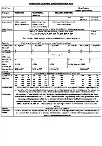 Technical Specifications - Northcot Brick