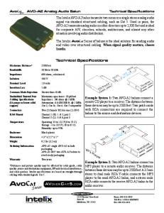 Technical Specifications PDF
