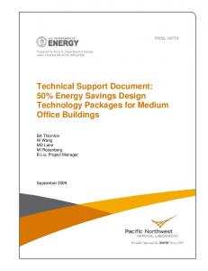 Technical Support Document: 50% Energy Savings ...