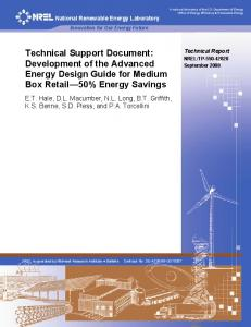 Technical Support Document: Development of the Advanced Energy ...