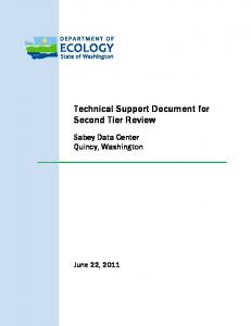 Technical Support Document for Second Tier Review - Washington ...