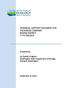 Technical Support Document for The Boeing Company 777X Project