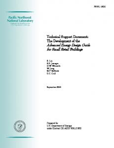 Technical Support Document - Pacific Northwest National Laboratory