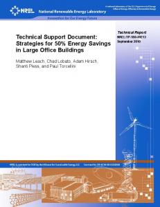 Technical Support Document: Strategies for 50% Energy ... - NREL