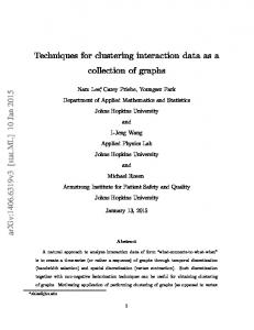 Techniques for clustering interaction data as a collection of ... - arXiv