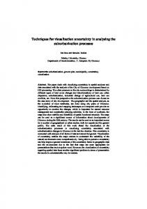 Techniques for visualization uncertainty in analysing the ...