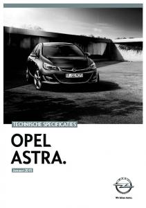 Technische specificaTies OpeL asTra.