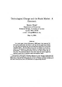 Technological Change and the Stock Market: A