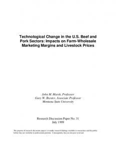 Technological Change in the US Beef and Pork ... - AgEcon Search