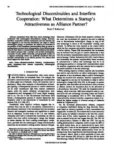 Technological discontinuities and interfirm cooperation: what ...