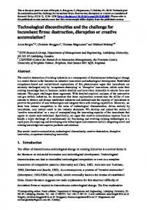 Technological discontinuities and the challenge for ... - Semantic Scholar