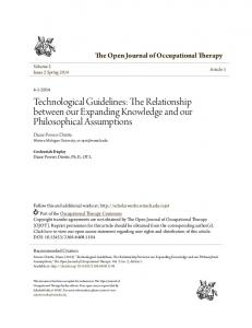 Technological Guidelines: The Relationship between our Expanding ...