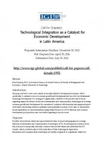 Technological Integration as a Catalyst for Economic Development in ...