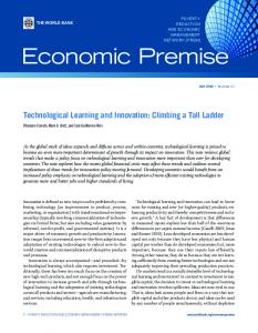 Technological Learning and Innovation - CiteSeerX