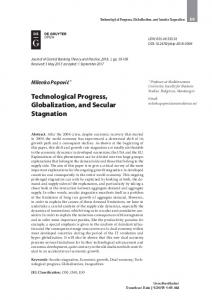 Technological Progress, Globalization, and Secular Stagnation