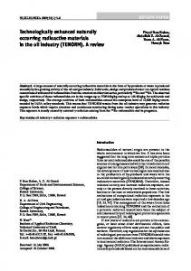 Technologically enhanced naturally occurring radioactive materials in ...