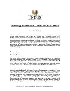 Technology and Education : Current and Future Trends - ITARI