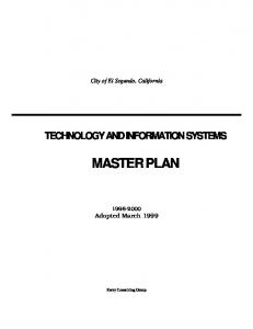 technology and information systems master plan