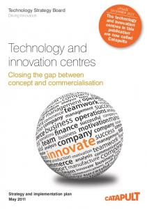 Technology and innovation centres strategy and implementation plan