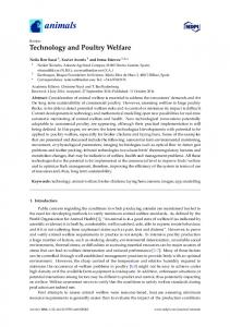 Technology and Poultry Welfare - MDPI