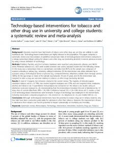 Technology-based interventions for tobacco and other drug use in ...