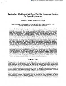 Technology Challenges for Deep-Throttle Cryogenic Engines for ...