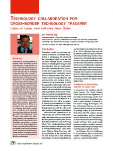 Technology collaboration for cross-border technology transfer