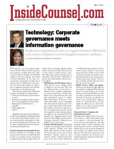 Technology: Corporate governance meets information governance
