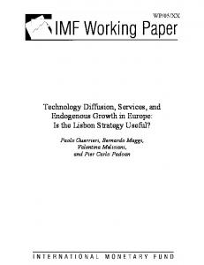Technology Diffusion, Services, and Endogenous Growth ... - CiteSeerX