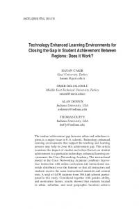 Technology Enhanced Learning Environments for ... - LearnTechLib