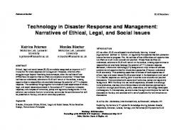 Technology in Disaster Response and Management ...