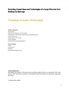 Technology in Society (forthcoming)