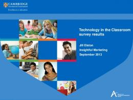 Technology in the Classroom survey results