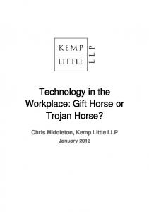 Technology in the Workplace Gift Horse or Trojan Horse 2013