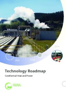 Technology Roadmap: Geothermal Heat and Power - IEA