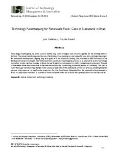 Technology Roadmapping for Renewable Fuels: Case of ... - SciELO