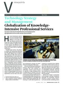 Technology strategy and management Globalization of knowledge ...