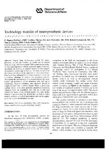 Technology transfer of neuroprosthetic devices